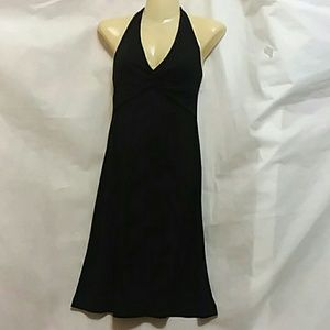 BCBG Maxazria Black Knit Halter Dress LBD